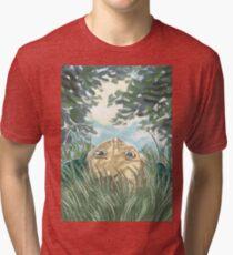 lying in the grass Tri-blend T-Shirt
