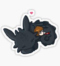 Toothless Hug Sticker