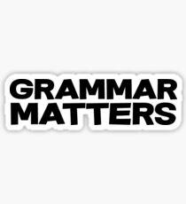 Grammar Matters Sticker