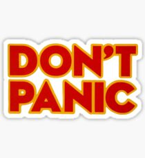 Don't Panic Sticker