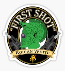 First Shot Rodian White Ale Sticker