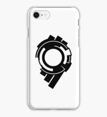 Ghost in the Shell - Public Security Section 9 Logo (Black Logo) iPhone Case/Skin