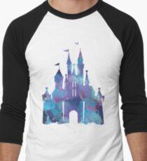 Splatter-Lack-Schloss Baseballshirt mit 3/4-Arm