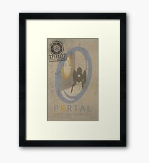 Portal Game Poster Framed Print