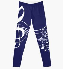 Music blue Leggings