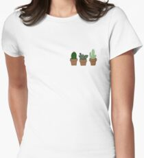 Cute cacti Women's Fitted T-Shirt
