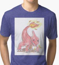 Chameleon Watercolour Tri-blend T-Shirt