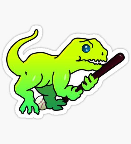 Baseball Dino VRS2 Sticker
