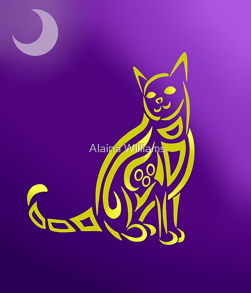 Cat Tribal Design by Alaina Williams
