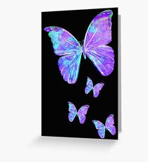 Purple Butterflies by Jan Marvin Greeting Card
