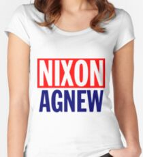 NIXON/AGNEW (1968)-2 Women's Fitted Scoop T-Shirt