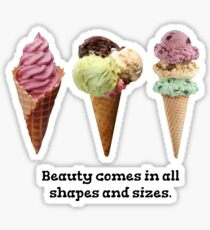 Cute ice cream  Sticker
