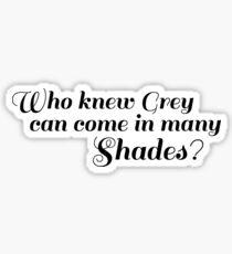 50 SHADES OF GREY - SHADES Sticker