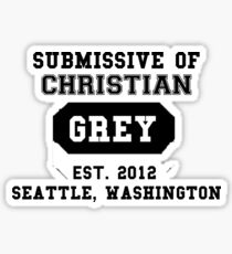50 SHADES OF GREY - SUBMISSIVE Sticker