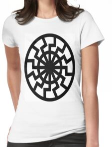 The Black Sun Womens Fitted T-Shirt