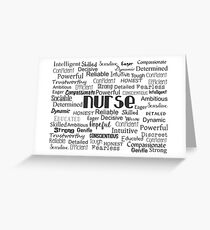 Nurse Best Adjectives Greeting Card