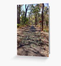 The River Walk Greeting Card