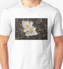 Bridal White Pair - Crocus Harbingers of Spring Unisex T-Shirt
