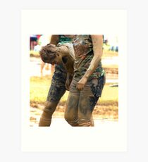 Walking the Mud Out  Art Print