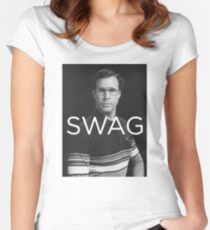 Will Ferrell Swag Women's Fitted Scoop T-Shirt