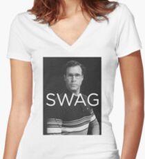 Will Ferrell Swag Women's Fitted V-Neck T-Shirt