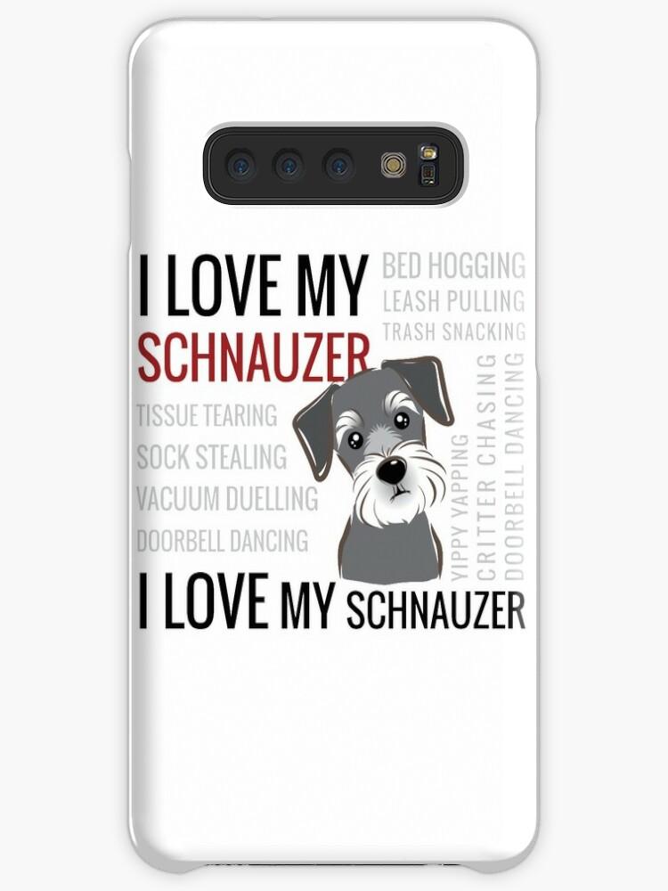 Schnauzer Head Samsung S10 Case