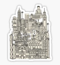 Hong Kong toile de jouy mint Sticker