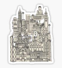 Hong Kong toile de jouy Sticker