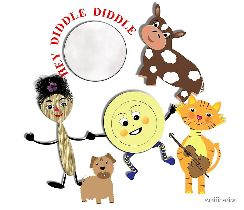 Hey Diddle Diddle Kids Nursery Rhyme Picture\