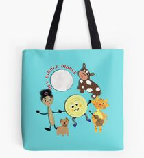 Hey Diddle Diddle Kids Nursery Rhyme Picture Tote Bag