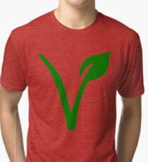 Vegetarian Symbol Tri-blend T-Shirt