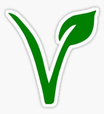 Vegetarian Symbol Sticker