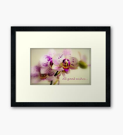 All good wishes... Framed Print