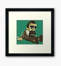 Nietzsche doll for truly lovers - glitch videogame Framed Print
