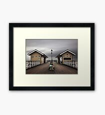 Bleak Penarth Pier Framed Print