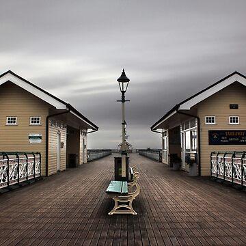 Düsterer Penarth Pier von Andrew-Hocking