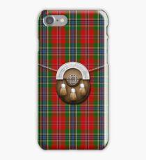 Clan MacLean Of Duart Tartan And Sporran iPhone Case/Skin