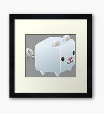 Cubimal Snowcone vendor - glitch videogame Framed Print