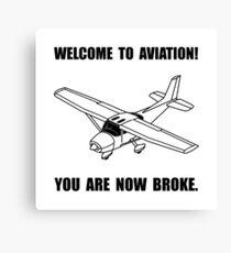 Aviation Broke Canvas Print
