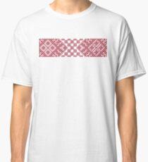 Red Latvian Lielvarde Belt motif Classic T-Shirt