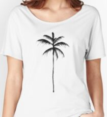 Palm Tree Illustration Women's Relaxed Fit T-Shirt