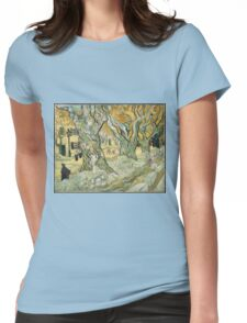Vincent Van Gogh - The Road Menders, 1889 Womens Fitted T-Shirt