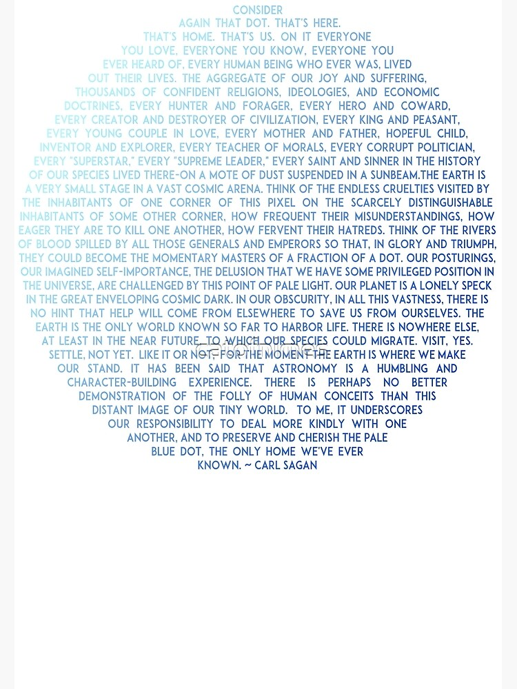 Quot Pale Blue Dot Carl Sagan Quot Poster By Catofnimes Redbubble