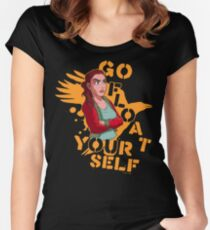 Go float yourself! Women's Fitted Scoop T-Shirt