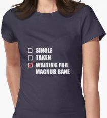 Waiting For Magnus Bane Women's Fitted T-Shirt