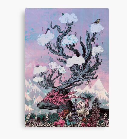 Journeying Spirit (deer) sunset Canvas Print