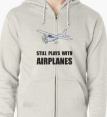 Plays With Airplanes Zipped Hoodie