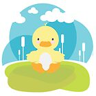 « Ducky in the pond » par Kewee