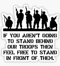 Stand Behind Troops Sticker