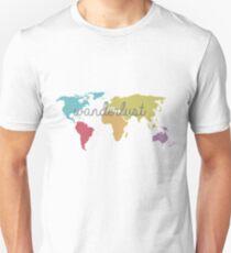 World Map - Wanderlust T-Shirt